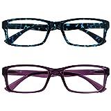 Uv Reader Gafas De Lectura Azul Carey Y Púrpura Lectores Valor Pack 2 Hombres Mujeres Uvr2092Bl_P +2,50 2 Unidades 70 g