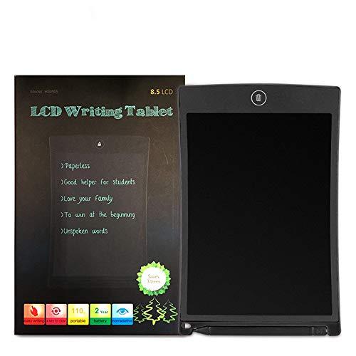 Tableta de dibujo de escritura creativa de 8.5 pulgadas Bloc de notas Tablero gráfico LCD digital Tablero de anuncios de escritura a mano Juguetes educativos para niños Negro