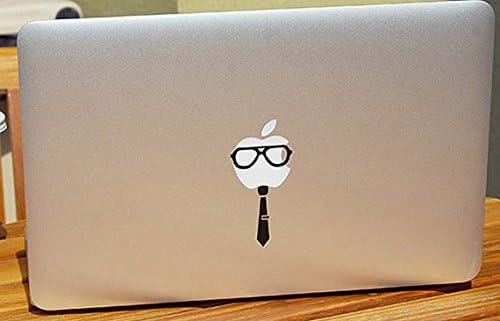 Geek Max 53% OFF Ranking TOP8 Glasses and Tie Apple Logo Vinyl Symbol S Sticker Black Car