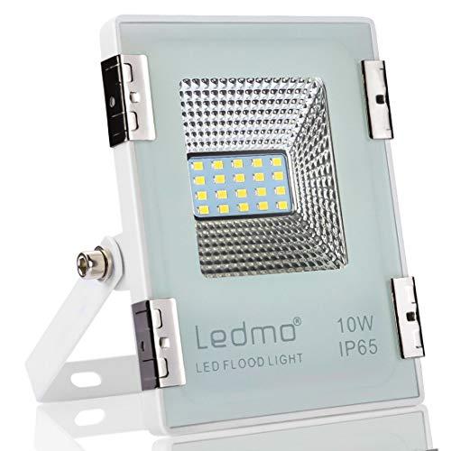 LEDMO Focos led Proyector 10W,focos led exterior blanco 6000K SMD2835 1000LM Super brillante focos led exterior,IP65 Impermeable Floodlight