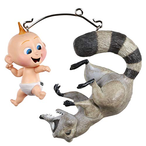 Hallmark Keepsake Christmas Ornaments 2020, Disney/Pixar Incredibles 2 Jack-Jack vs. Raccoon, Set of 2