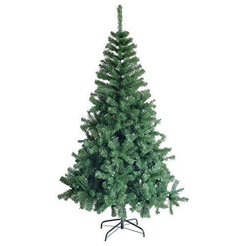 6 Ft Christmas Tree Eco-Friendly Artificial Pin E Tree Holiday Christmas Tree for Home, Office, Party Decoration 800 Branch Tips (6Ft, Green)