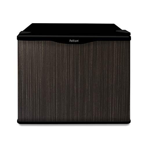 小型冷蔵庫 省エネ17リットル型 Peltism advancedシリーズ symphony wood black (シンフォニーウッドブラック) ドア左開き