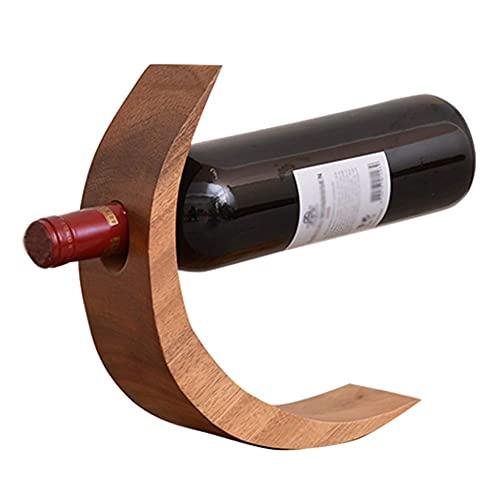 ZHBH Estante para Copas de Vino, pequeño, Curvo, para mostrador, balancín, Estante para Vino, Independiente, Madera Maciza seleccionada, Adecuado para Botellas de Vino en Gene