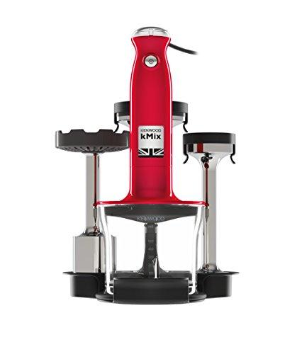 Kenwood kMix HDX754RD Stabmixer Set , 800 Watt, Pürierstab, Triblade System, Inkl. Zubehör, Rot