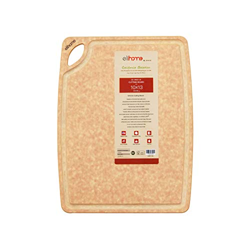 Elihome Cutting Board for Kitchen, Natural Wood...