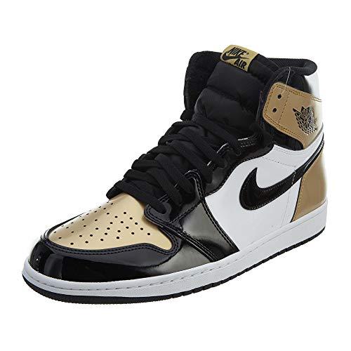Nike Herren Air Jordan 1 Retro High Og Nrg Basketballschuhe, Schwarz Schwarz Metallic Gold, 41 EU