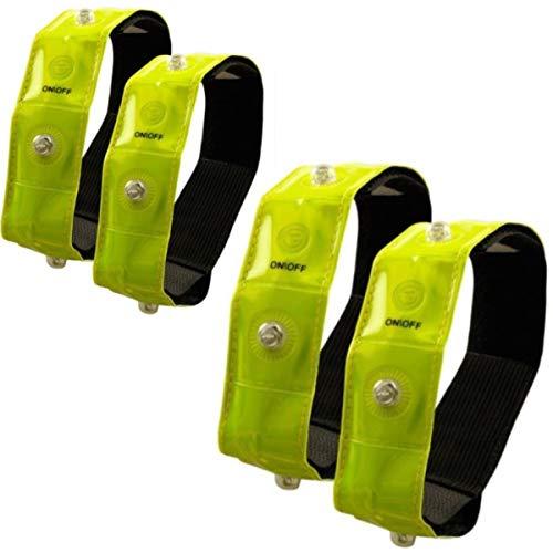 Timtina Reflektorbänder Sicherheits Reflektorstreifen Armreflektoren mit leuchtstarken LED (4)