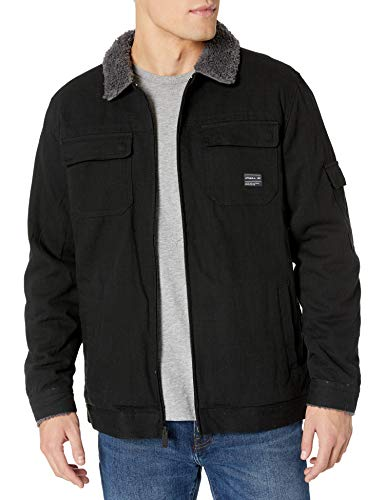 O'NEILL Men's Sherpa Lined Heavy Weight Jacket, Black/Ranger, X-Large