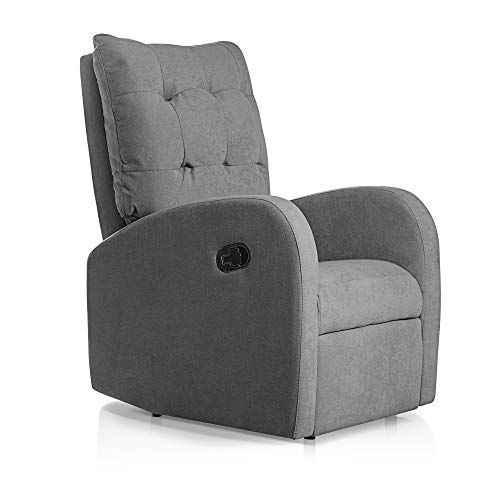 SUENOSZZZ-ESPECIALISTAS DEL DESCANSO Sillon Relax orejero reclinable Soft tapizado en Tela...