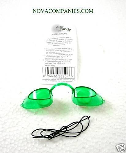 Tanning Bed Eyewear EYECANDY Goggles protection GREEN