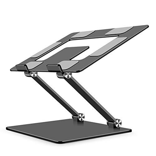 Soporte portátil plegable de aleación de aluminio para ordenador portátil, soporte de escritorio ajustable (gris)