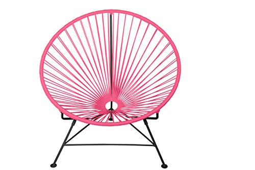 Innit Designs Innit Chair, Pink Weave on Black Frame