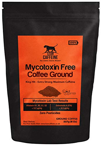 UK Strongest Strong Coffee Ground 227g   48% > Death Wish / Deathwish Coffee   Good for Pre Workout   Lab Verified Pesticide + Mycotoxin Free Bulletproof Coffee   Lean Caffeine