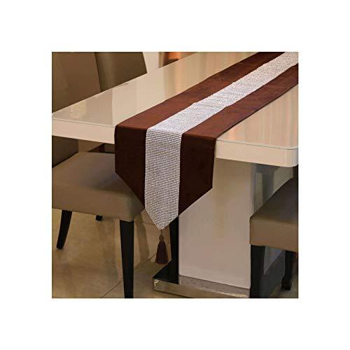 Durable Diseño De Patchwork Lentejuelas Camino De Mesa, Moderno Elegante Manteles Adecuado para Boda Navidad Acción De Gracias Decoración De Mesa-A-32X180cm(13X71pulgada)
