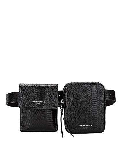 Liebeskind Berlin Nevada Belt Bag Umhängetasche, Medium (30 cm x 20 cm x 5cm), black