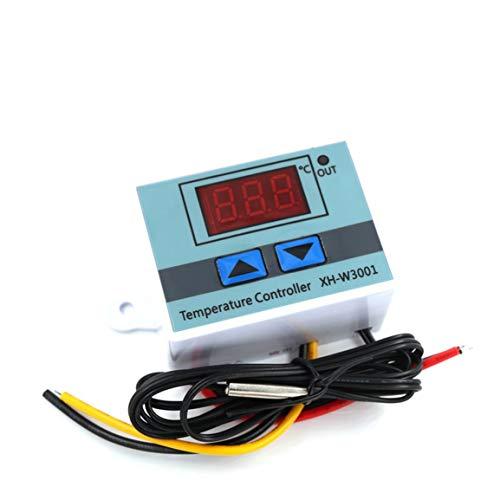 Bellaluee Controlador de Temperatura Interruptor de Control térmico Controlador de Temperatura Digital multifunción Accesorios de sonda Impermeable