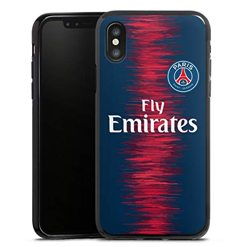 DeinDesign Silikon Hülle kompatibel mit Apple iPhone X Case schwarz Handyhülle Trikot Paris Saint-Germain PSG