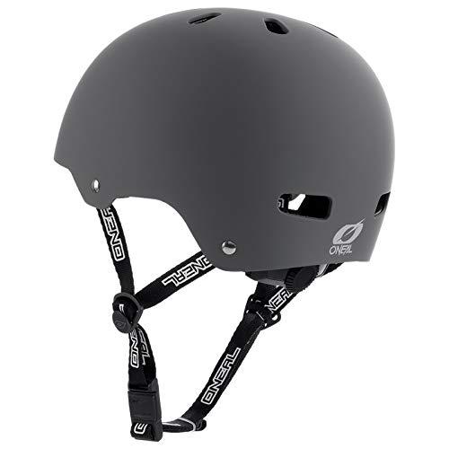 O'Neal Dirt Lid ZF Bones Fahrrad MTB BMX Helm Mountain Bike FR Fidlock Magnet Verschluss, 0584-B, Grau, Gr.- M/L (56-58cm ) - 3