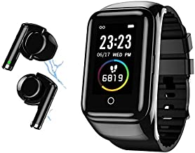 WYNCO M7 2nd Generation Smart Bracelet Wireless Bluetooth Headset Running Music Wristband Earphone Heart Rate Blood Pressure Fitness Tracker (M7-Black)