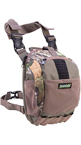 Allen Company Shocker Cut-N-Run Turkey Hunting Pack - 3in1 Functionality: Thigh Pack, Sling Pack, Chest Pack - Multi Functional -9 Features, Camo 19170 One Size