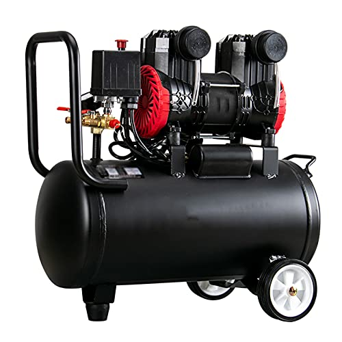 Compresor de aire libre de aceite 980/1650 W Portable TIENDA (56dB) 220V Herramienta de aire eléctrico con válvula de seguridad, bomba de inflador de neumáticos de 30L, para renovación para el hogar