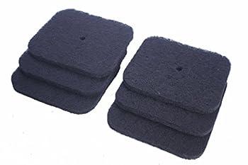 LTWHOME Remplacement Carbonée Filtre Convient pour Catit Hooded et Jumbo Hooded Chat Casserole Codes 50695, 50696, 50700, 50701, 50702 (Paquet de 6)