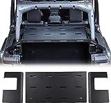 RT-TCZ Interior Rear Cargo Rack Luggage Storage Carrier Solid Metal Trunk Shelf for 2007-2018 Jeep Wrangler JK JKU Unlimited & 2018-2020 JL JLU Unlimited, Interior Accessories