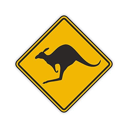 easydruck24de 1 Sticker Vorsicht Känguru I kfz_052 I 10 x 10 cm I Kangaroo Australien Australia Outback car Decal I Auto-Aufkleber Motorrad Roller Laptop wetterfest