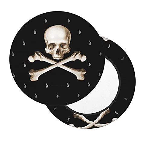 Death Curse Ghost Skull Sugar Skull Barra Redonda Funda de cojín para Silla Suave Antideslizante con elástico extraíble y Lavable para Barra de Oficina en casa