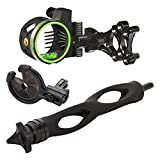Trophy Ridge Master Hunter Kit with Volt 5-Pin Sight, 6' Static Stabilizer, and Kill Shot Whisker Biscuit, Black