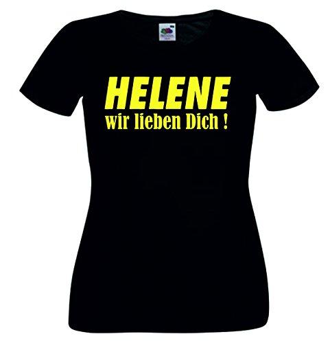 Helene Kinder T-Shirt Motiv112 - Kinder - Schwarz/Gelb - 116