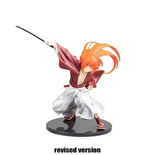 Rogue Sword Heart Cijfers Battousai Action Figure Over 7,5 inch High Souvenir Ambachten speelgoed en spelletjes auto decoratie Character Model omliggende animatie