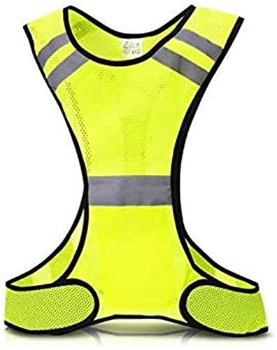 LED-Warnweste,Leichtgewicht im Freien Einstellbare atmungsaktive Sichtbarkeit Reflektierende LED-Warnung Einstellbare Taillenweste für nächtliche Verkehrsaktivitäten im Freien Laufen,Radfahren (Grün)