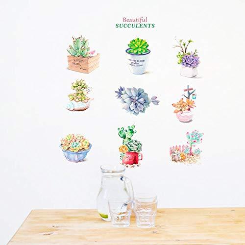 Leeypltm Muursticker, kleine bloempot, vers, waterbestendig, afneembaar, muursticker, voor slaapkamer, woonkamer, kantoor, wanddecoratie, kan als verjaardagscadeau worden gebruikt