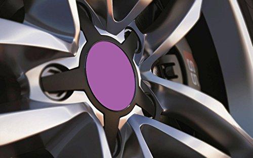 Standard ajustement universel 80 mm Centre de roue en alliage Cap badges, Violet