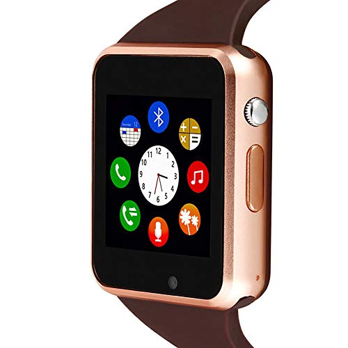 Smart Watch, SmartWatch for Android Phones with SD SIM Card Slot Touch Screen Watch Phone with Camera Pedometer Compatible with Bluetooth for iOS (Partial Functions) Sweatproof for Kids Men Women