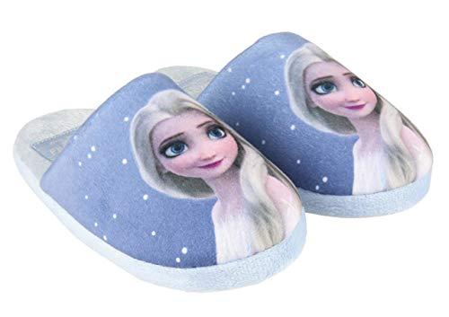 Chaussons d'intérieur Enfant Fille Disney La Reine des neiges Elsa Bleu du 28 au 35 (Numeric_32)