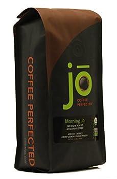 MORNING JO  12 oz Organic Breakfast Blend Ground Coffee Medium Roast Fair Trade Certified USDA Certified Organic NON-GMO 100% Arabica Coffee Gluten Free Gourmet Coffee from Jo Coffee