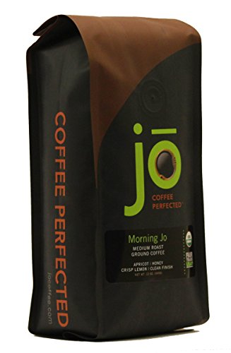 MORNING JO: 12 oz, Organic Breakfast Blend Ground Coffee, Medium Roast, Fair Trade Certified, USDA Certified Organic, NON-GMO, 100% Arabica Coffee, Gluten Free, Gourmet Coffee from Jo Coffee