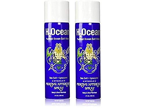 H2Ocean Piercing Aftercare Spray, 4 Fluid Ounce Set of 2 Total 8 Fluid Ounce