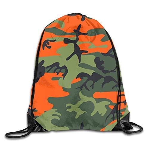 Drempad Sacs à Dos,Sacs de Sport,Sacs à Cordon, Drawstring Bag Camouflage Backpack Draw Cord Bag Sackpack Large Lightweight Gym Hiking Swimming Yoga