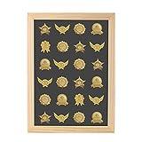 Estante de exhibición Coleccionable para medallas, Medalla de desafío, Caja de Monedas, estantes de Almacenamiento de Madera, Soporte de exhibición de Monedas de Regalo