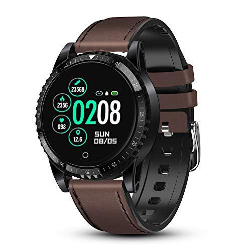 GOKOO Reloj Inteligente Bluetooth Smartwatch Hombre Deportivo con Monitor de Ritmo Cardíaco/Sueño/Presión Sanguínea Podómetro Rastreador de Fitness Notificación de Mensaje