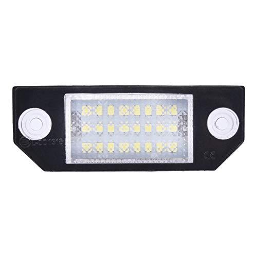 MagiDeal Número de matrícula de coche LED lámparas de luz Assy para Ford Focus c-max MK2 2003-2008 superbrillante, fácil de instalar, plug and play
