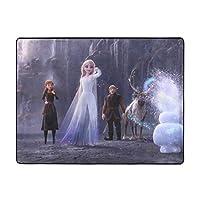 アナと雪の女王ディズニー、 (2) 豪華である家庭用カーペット抗菌 防臭 リビング 屋内 カーペット 洗える ラグマット 滑り止め マット 絨毯 オールシーズンタイプ フランネルラグ