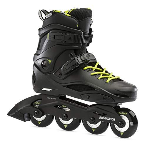 Rollerblade Unisex– Adult's RB Cruiser Inline Skates, Black/neon Yellow, 290