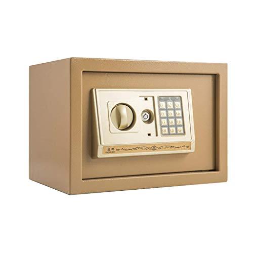 HCYY Cajas Fuertes de Seguridad Mini Caja Fuerte Digital, Caja Fuerte a Prueba de manipulaciones, Caja Fuerte para Armario Empotrado, Adecuado para el hogar, la Oficina, el Hotel, el Dinero en EF