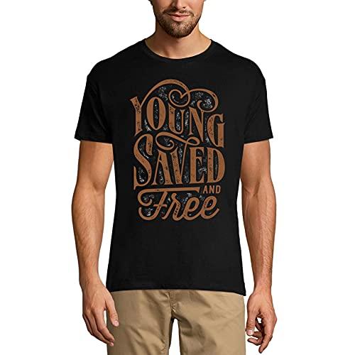 Ultrabasic Camiseta Hombre Young Saved and Free - Camiseta de manga corta - negro - X-Small