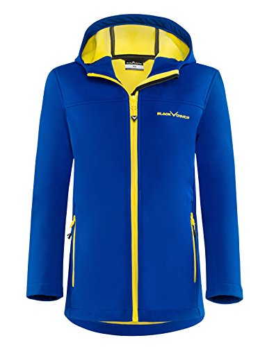 Black Crevice Kinder Softshelljacke, blau/Gelb, 140
